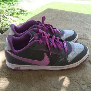 Nike sb dunks purple and gray sneakers
